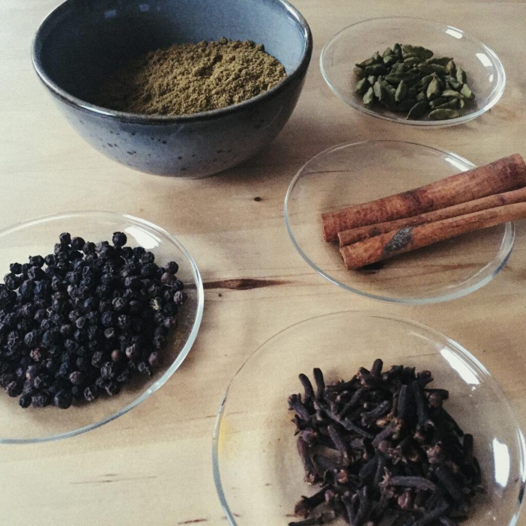 Char Masala ingredients