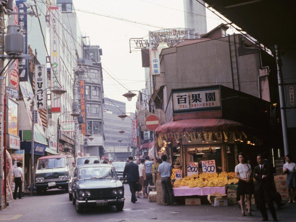 Tokyo market in 1972