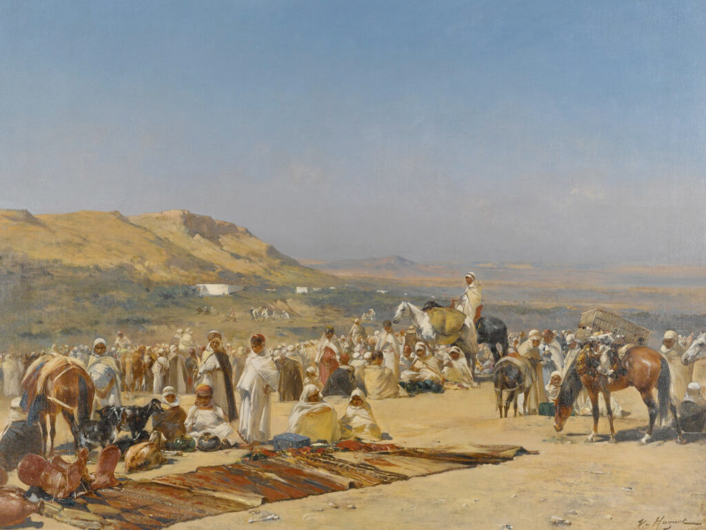 Victor Huguet - Market in the Desert