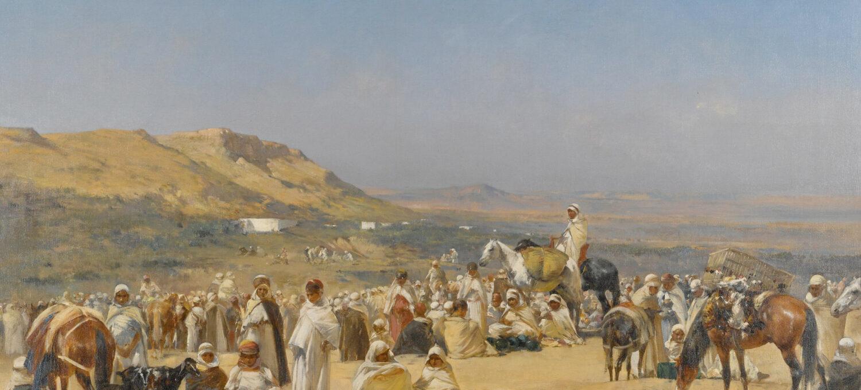 Victor Huguet - Market in the Desert